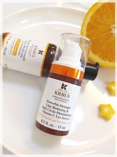 強效修護成分。6天改善眼周肌膚問題 ♥ Kiehl's醫學維他命C淡紋亮眼精華霜 ...