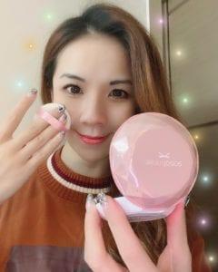 日本製造 ♥ 塑造清爽自然膚色►sasatinnie光鑽修護防曬粉餅